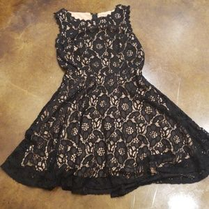 City Triangles Black Lace and Cream  A line Dress